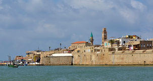 Acre Akko old city port skyline, Israel Royalty Free Stock Photos