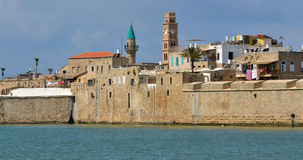 Acre Akko old city port skyline, Israel Royalty Free Stock Image