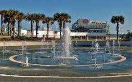 Breakers Oceanfront Park Fountain in Daytona Beach stock photo