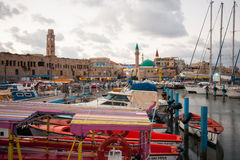 Acre Fishing Harbor Stock Photography