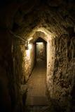 Acre, Israël - de Templar-Tunnel royalty-vrije stock foto