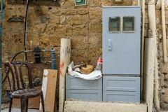 ACRE, ISRAEL - April 3, 2018: Fragments of the old part of Acre. royalty free stock photo