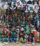 ACRE, ISRAEL - April 3, 2018: Hookah and souvenirs at east market in city of Acre Israel. stock photo