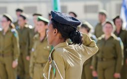 Oath ceremony of Recruits of the Israel Defense Forces stock photos