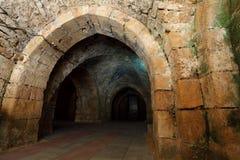 Acre knight templar castle,. Israel Royalty Free Stock Photo
