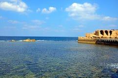 Acre sea wall Stock Photo
