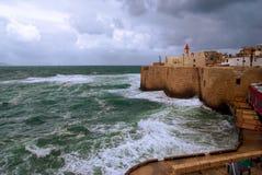 Acre Sea Wall, Israel Royalty Free Stock Photos