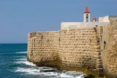 Acre Sea Walls Stock Photo
