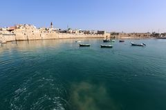 Acre - una ciudad en las orillas del mar Mediterráneo Fotografía de archivo libre de regalías