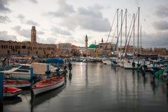 Acre Visserijhaven stock afbeeldingen
