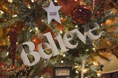 Acredite e ornamento da paz Imagens de Stock Royalty Free