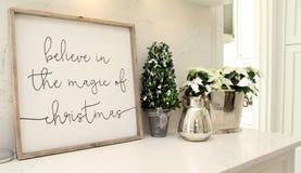 Acredite na mágica do Natal imagens de stock