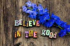 Acredite o bom amor feliz da esperança da fé da atitude positiva foto de stock royalty free
