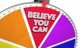 Acredite que você pode esperar a roda do jogo de confiança da fé Foto de Stock