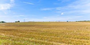 Acres après récolte photographie stock