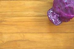 160 acri di cavolo rotondo porpora Fotografia Stock