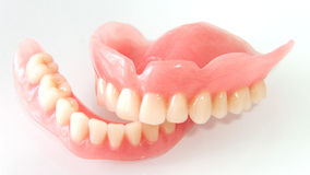 Acrilic dentures Royalty Free Stock Photo