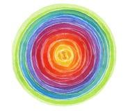 Acrilico astratto e fondo dipinto cerchio dell'acquerello Fotografia Stock