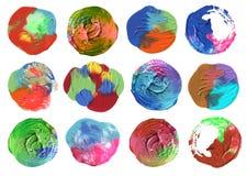 Acrilico del cerchio e fondo dipinto acquerello Fotografia Stock