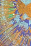 Acrilico variopinto del disegno su tela Astrazione Fotografie Stock