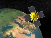 Acrimsat satellite - 3D render Stock Images