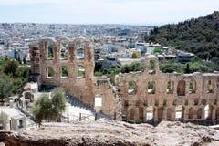 Acripolis一个anciant剧院在雅典希腊 库存图片