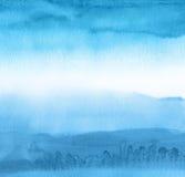 Acrílico abstrato e fundo pintado aquarela Fotografia de Stock