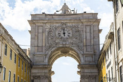 ACRO DA Rua Augusta in Lissabon, Portugal Lizenzfreie Stockbilder