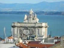 ACRO DA Rua Augusta, Praca tun Comercio, Lissabon Lizenzfreies Stockfoto