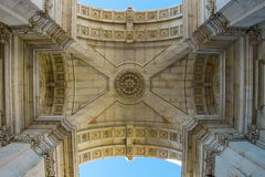 ACRO DA Rua Augusta Rua Augusta Triumphal Arch Lissabon, Portugal Lizenzfreies Stockfoto