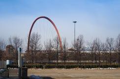 ACRO Olimpico (olympischer Bogen) in Turin Stockfotos