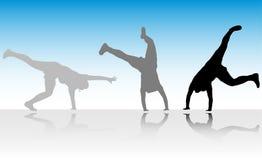 acro skok kroczy trzy Zdjęcie Royalty Free