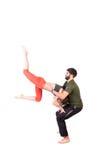 Acro-Yogahaltung Stockbilder