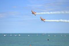 Acrobacias 2016 de Eastbourne Airshow Imagens de Stock Royalty Free