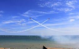 Acrobacias 2016 de Eastbourne Airshow Fotografia de Stock