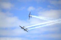Acrobacias Eastbourne Reino Unido de Airshow Imagem de Stock