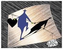 acrobat ilustração stock