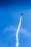 Acrobat Aircraft in turbo fly on the sky Stock Photography