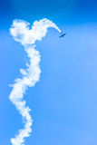 Acrobat Aircraft in turbo fly on the sky. On show Royalty Free Stock Photos