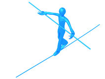 Acrobat Blue Boy Stock Photo