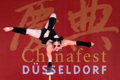 Acrobat of the Chinese State Circus. 17 September 2011. Düsseldorf Germany. Düsseldorf held it's first pro China festival. The aim of this event is to promote Royalty Free Stock Photo