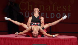 Acrobat of the Chinese State Circus. royalty free stock photos