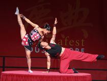 Acrobat of the Chinese State Circus. Royalty Free Stock Photo