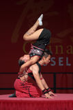 Acrobat of the Chinese State Circus. Royalty Free Stock Photography