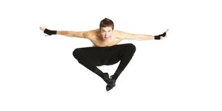 Acrobat dancer jumping Stock Photography