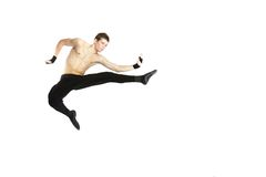 Acrobat dancer over white Royalty Free Stock Images