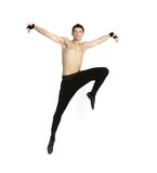 Acrobat dancer over white Stock Image