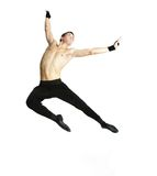 Acrobat dancer over white Royalty Free Stock Photo