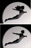 Acrobat/Diver/Trapeze Artist Royalty Free Stock Photos
