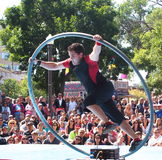 Acrobat At Edmonton Fringe Festival Royalty Free Stock Photography
